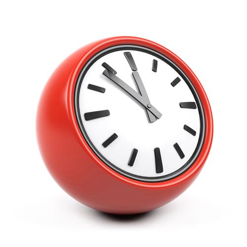 Stock photograph of a clock