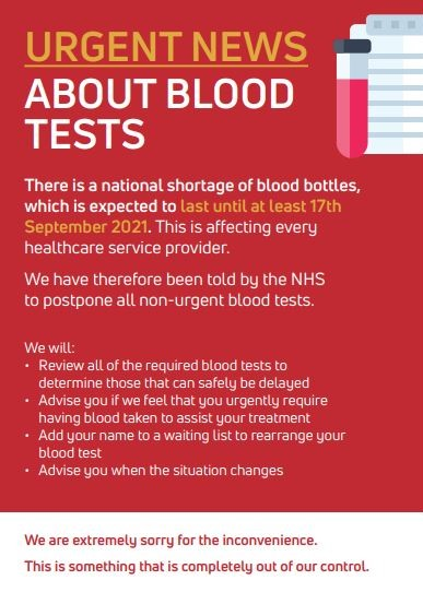 blood bottles poster