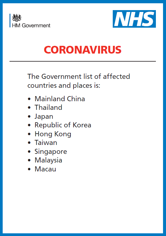 Corona Virus Affected Area