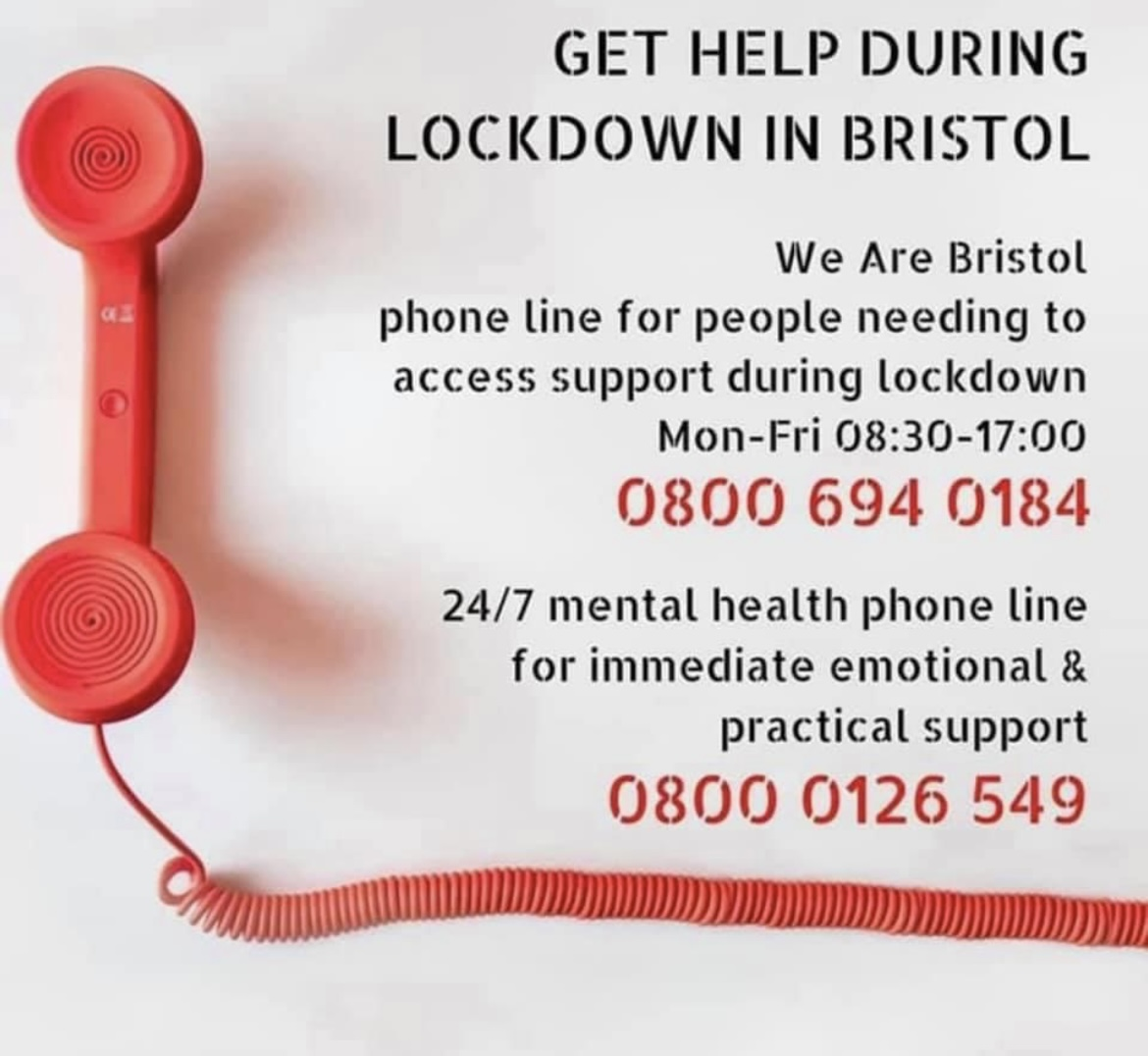 Get Help during lockdown in Bristol