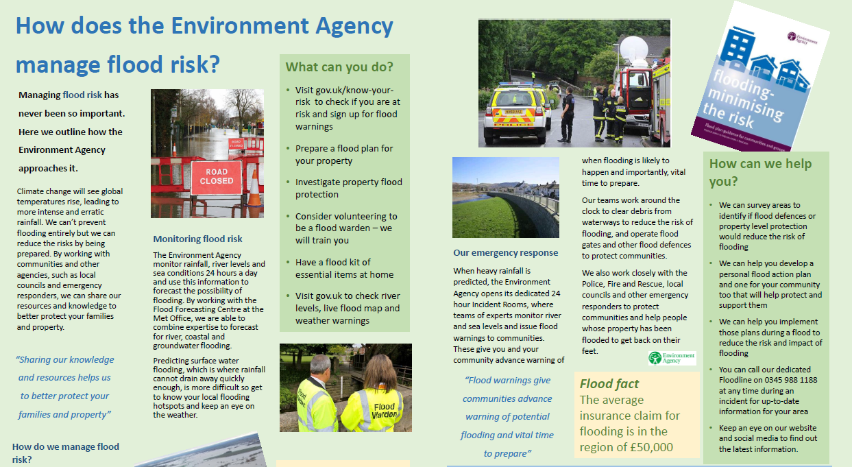 How Does EA Manage Flood Risk
